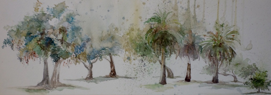 Watercolor Sketches of Arcadia Park2